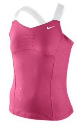 Nike Athlete Top Girl Pink, Nike Girls Tennis Apparel, Nike Athlete Tennis Tank Top Girl