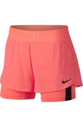 Nike Court Dry Ace Tennis Short Lava