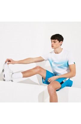 T-shirt Lacoste Sport imprimé croco édition Roland Garros
