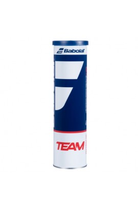 Tube of 4 Babolat Tennis Balls, Babolat Team Tennis Ball