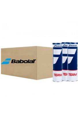 Box of 18 Tubes of 4 Babolat Tennis Balls, Babolat Team Tennis Ball