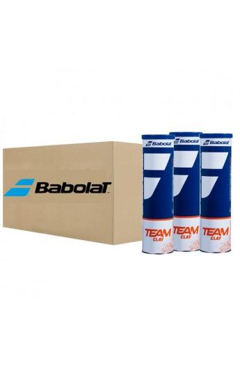 Carton de 18 tubes de 4 Balles Babolat Team Clay X 4