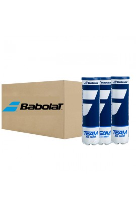 Carton de 18 tubes de 4 Balles Babolat Team All Court All Court X4